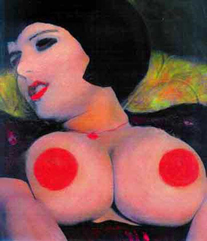 Mathilda Wolf: BIG NIPS, 1999, Overpainting